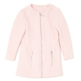 pink Younger Girls Boucle Coat