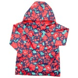 navy Younger Girls Fleece Lined Rain Jacket