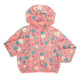 coral Younger Girls Jersey Lined Jacket