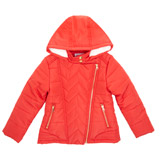 red Younger Girls Asymmetric Jacket