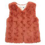 orange Younger Girls Faux Fur Gilet