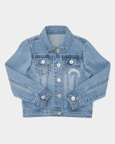 Younger Girls Denim Sequins Jacket (4-10 years)