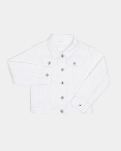 Girls White Denim Jacket (4-14 years)