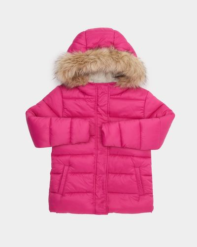 Girls Padded Faux Fur Jacket (4-14 years) thumbnail