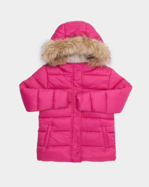 Girls Padded Faux Fur Jacket (4-14 years)