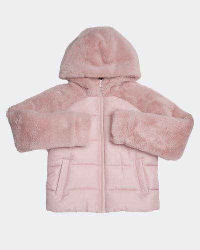 Girls Faux Fur Mix Coat (4-14 years)