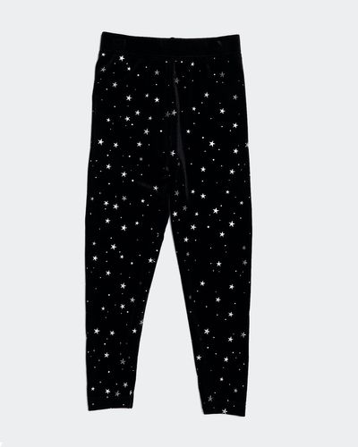 Girls Star Velour Leggings (2-8 years) thumbnail