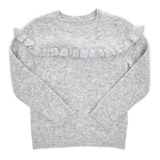 grey Younger Girls Frill Jumper