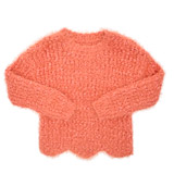 coral Younger Girls Eyelash Jumper With Lurex
