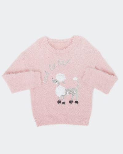 Girls Fluffy Embellished Jumper (2-8 years)