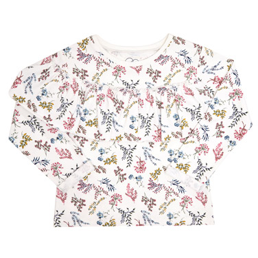cream Younger Girls All-Over Print Sweatshirt