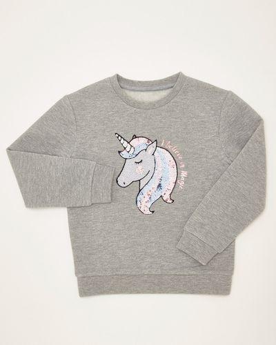 Girls Unicorn Lurex Sweatshirt (4-10 years)