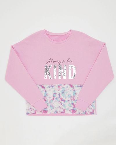 Girls Tie Dye Panel Sweatshirt (8-14 years)