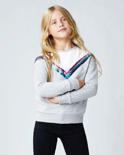 Girls Sequin Chevron Sweater (8-14 years)