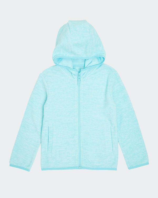 Girls Hooded Microfleece Zip Through (2-14 years)