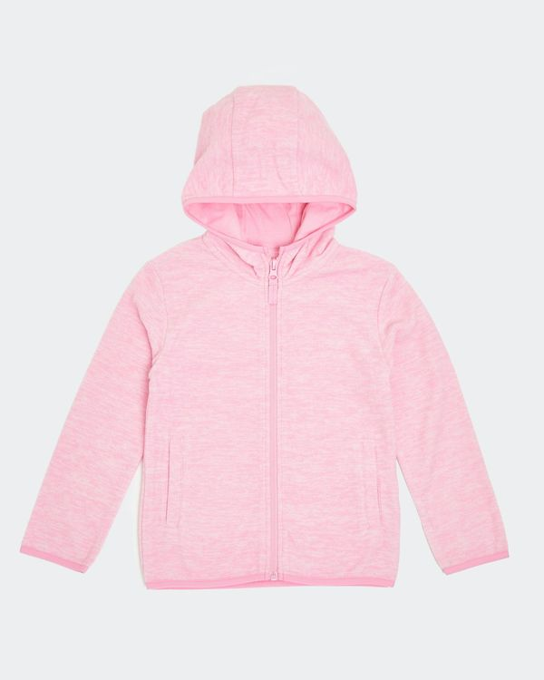 Girls Hooded Microfleece Zip Through (2-14 Years)