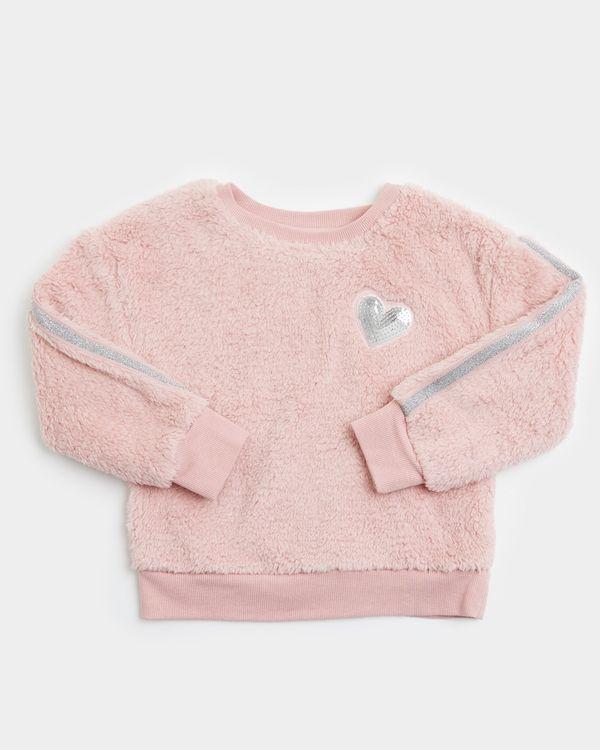 Girls Lurex Fluffy Sweater (3-8 years)
