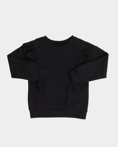 Girls Broderie Sweatshirt (2-8 years) thumbnail