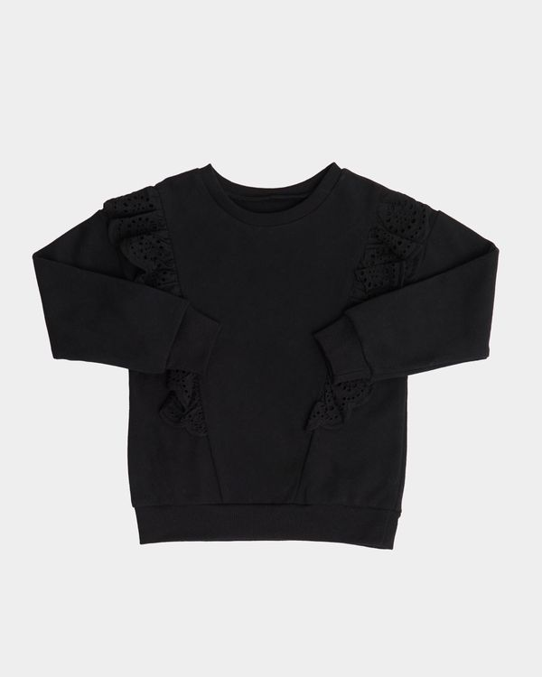 Girls Broderie Sweatshirt (2-8 years)