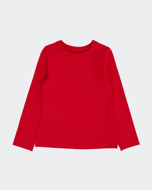 Girls Stretch Long Sleeve Top (2-14 Years)