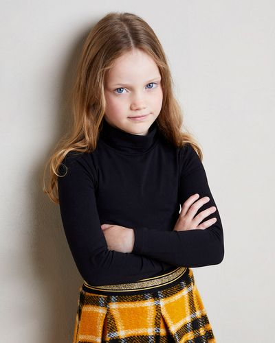 Girls Jersey Polo Neck (2-14 years) thumbnail