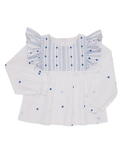 Girls Embroidered Blouse (4-10 years)