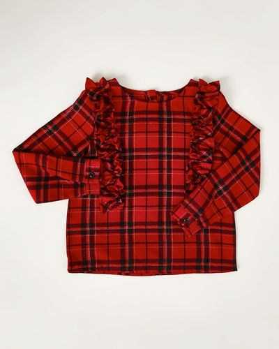 Girls Check Frill Top (4-10 years)