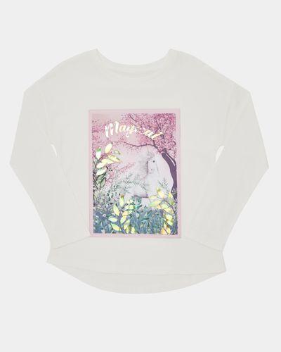 Girls Unicorn Print Top (4-10 years)