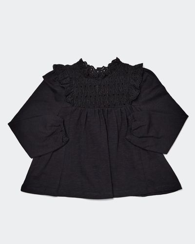Girls Smocked Long-Sleeved Top (2-10 years)
