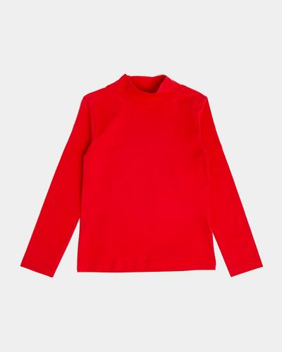 Girls Jersey Turtle Neck Long Sleeve Top (2-14 years)
