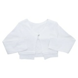 white Younger Girls Jersey Shrug