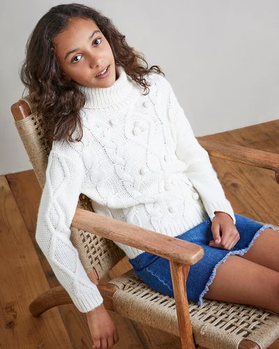 Girls Chunky Roll Neck Jumper (7-14 years)
