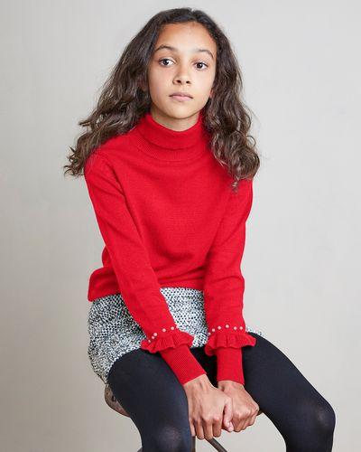 Girls Pearl Knit Jumper (7-14 years)
