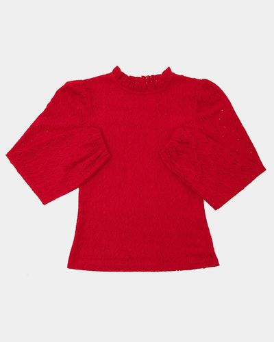 Girls Lace Long-Sleeved Top (7-14 years)