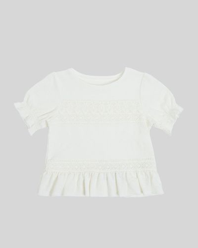 Girls Lace Short-Sleeved Top (7-14 years) thumbnail
