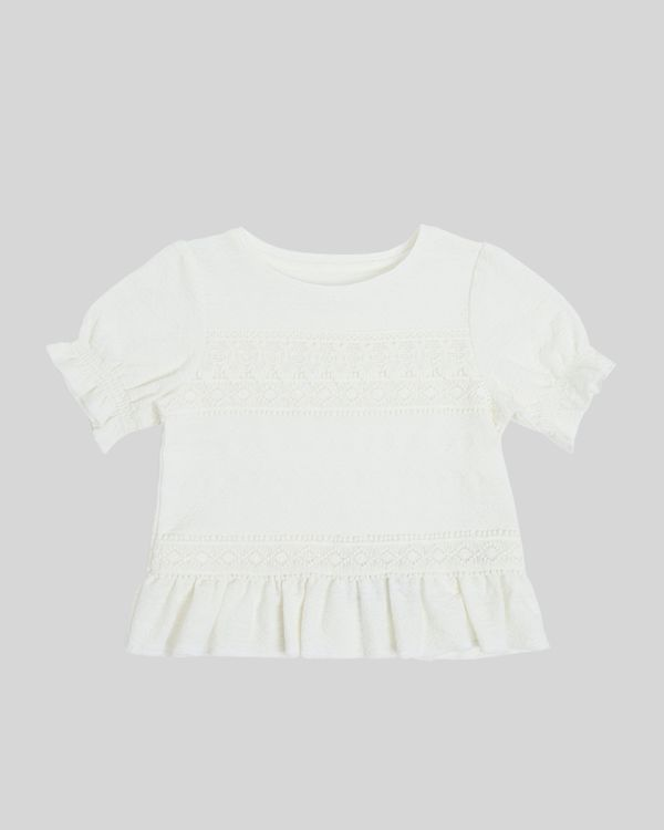 Girls Lace Short-Sleeved Top (7-14 years)