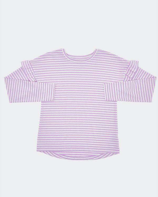 Girls Lurex Stripe Long-Sleeved Top (7-14 years)