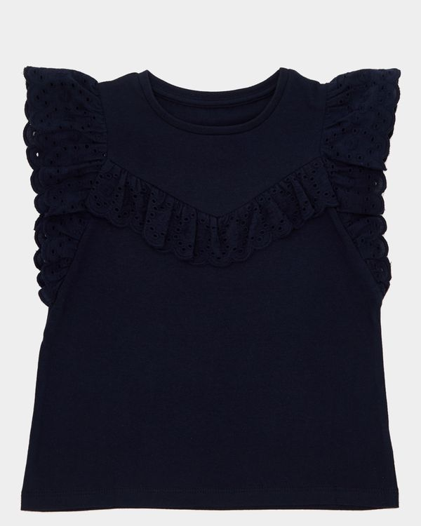 Girls Broderie T-Shirt (4-10 years)