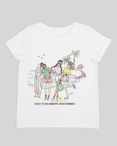 Girls Print T-Shirt (2-14 Years)