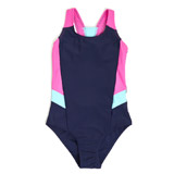 navy Older Girls Sporty Swimsuit