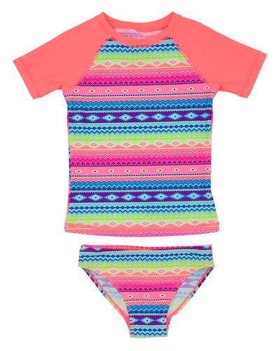 Girls Two Piece Rashguard Set (4-14 years)