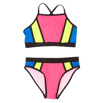 Girls Colour Block Bikini (8-14 years)