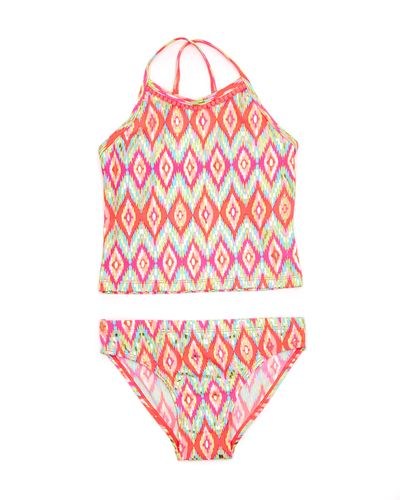 Girls Foil Tankini Set (4-14 years)
