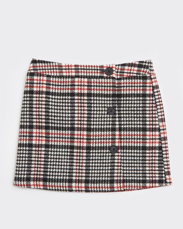 Girls Check Button Skirt (7-14 years)