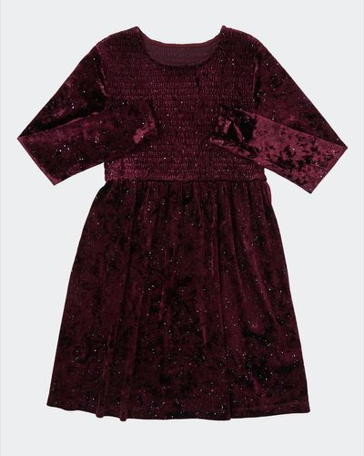Shirred Velour Dress (7 - 14 years) thumbnail