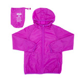 magenta Older Girls Rain Mac In Bag