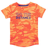 orange Boys Print Front T-Shirt