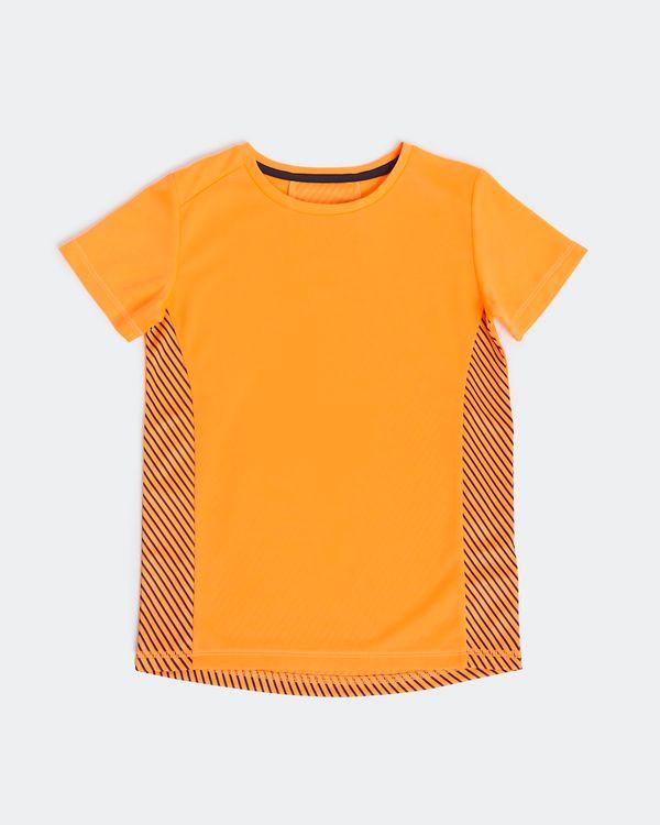 Boys Panel Poly T-Shirt (4-14 years)
