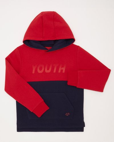 Boys Sportif Over-The-Head Fleece Hoodie (4-14 years)