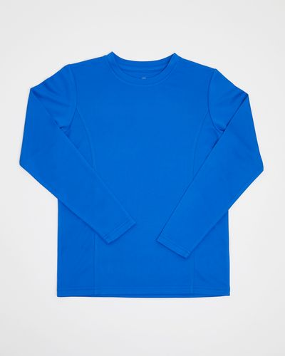 Boys Long-Sleeved Plain Poly Top (3-14 years) thumbnail